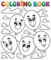 Coloring book balloons theme 2