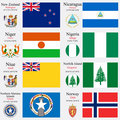 world flags and capitals set 17