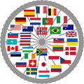 Flags of countries of the Tour de France 2013