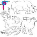 Coloring image wild animals 02