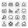 Website menu, internet navigation stroke buttons