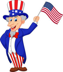 Uncle Sam cartoon hold...