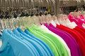 Retail Store Clothing Rack Plastic Hangers Fashion Apparel