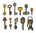 Cartoon key set