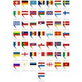 Badges with flags of Europe