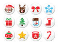 Christmas, santa vector icons set