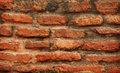 Red brickwork close-up