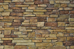 Multi Color Stone Wall Used For Background Stock Photo